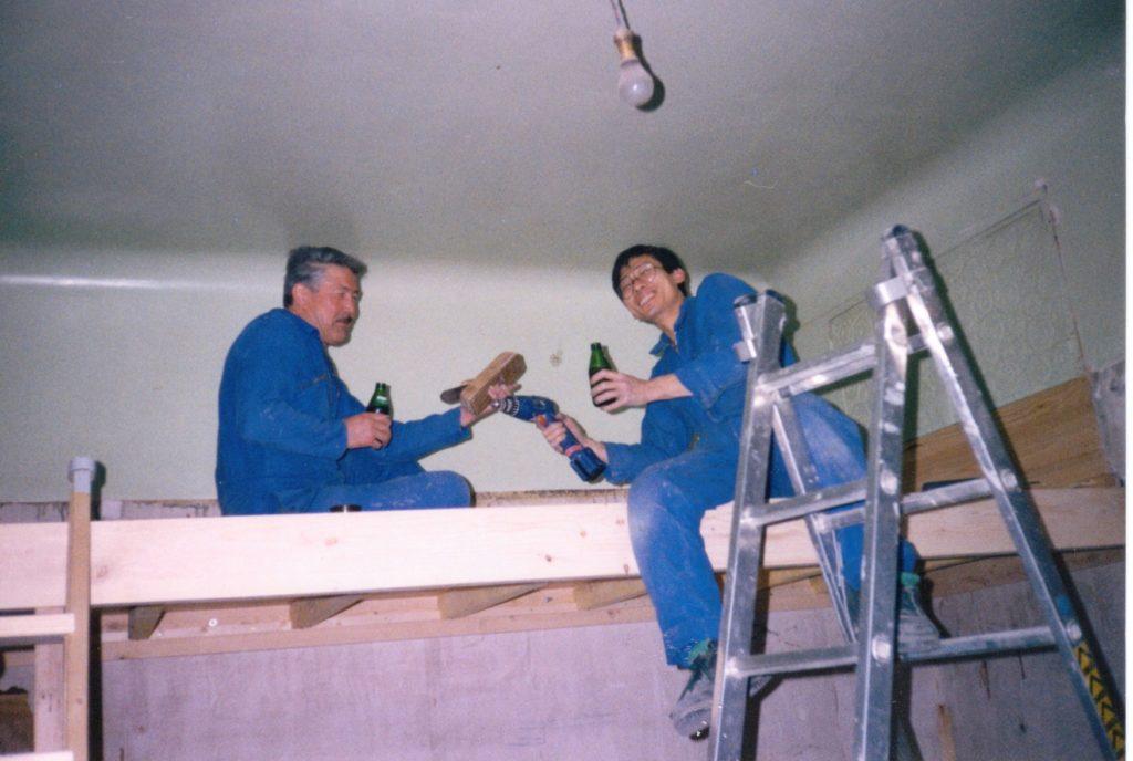 Chantal. Chantier de rénovation 1, l'appartement, Dijon, 1998