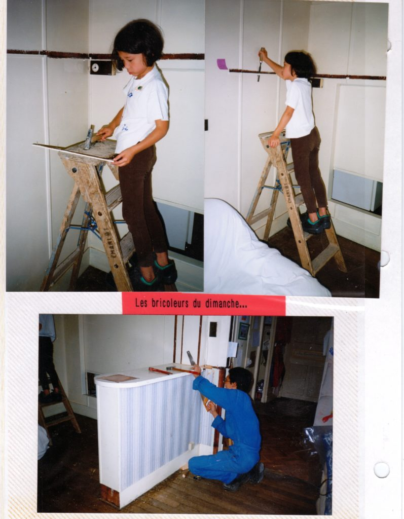 Chantal. Chantier de rénovation 1, l'appartement, Dijon, 1998