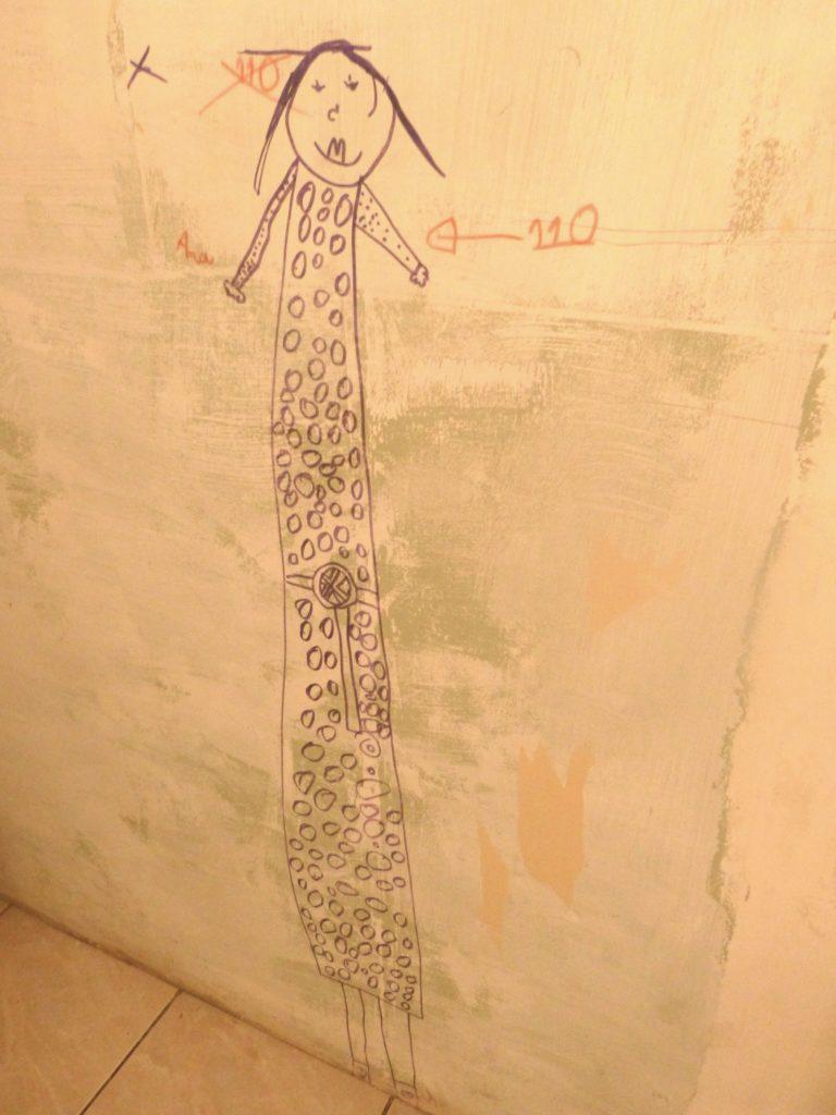 Habitant. Autoportrait enfant, chantier WC