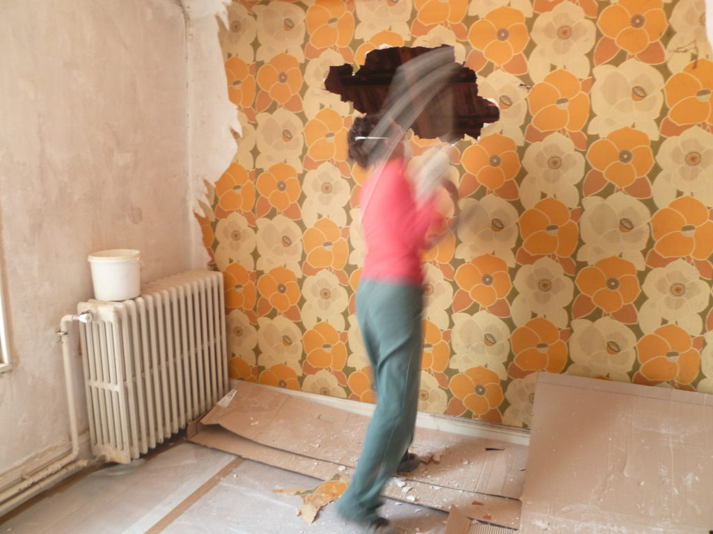 Chantal, Chantier de rénovation 2, la maison, Dijon, 2011