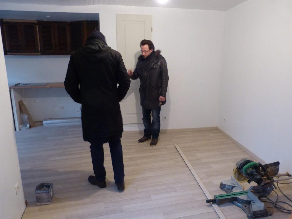 Chantier de rénovation de Manu et Chrystelle, Malakoff, février 2013 © Hélène Subrémon DR (photos réalisées dans le cadre du chantier LMS «Histoires de projets»)
