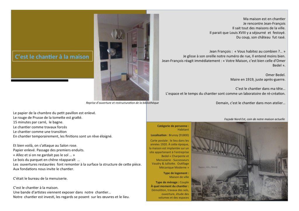 Brunoy (Essonne), maison de ville, ancienne entreprise. Habitant, couple