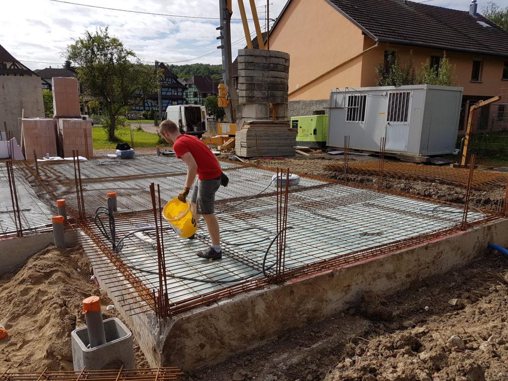 Maître d'oeuvre, Chantier de construction, Alsace, 2017-2018
